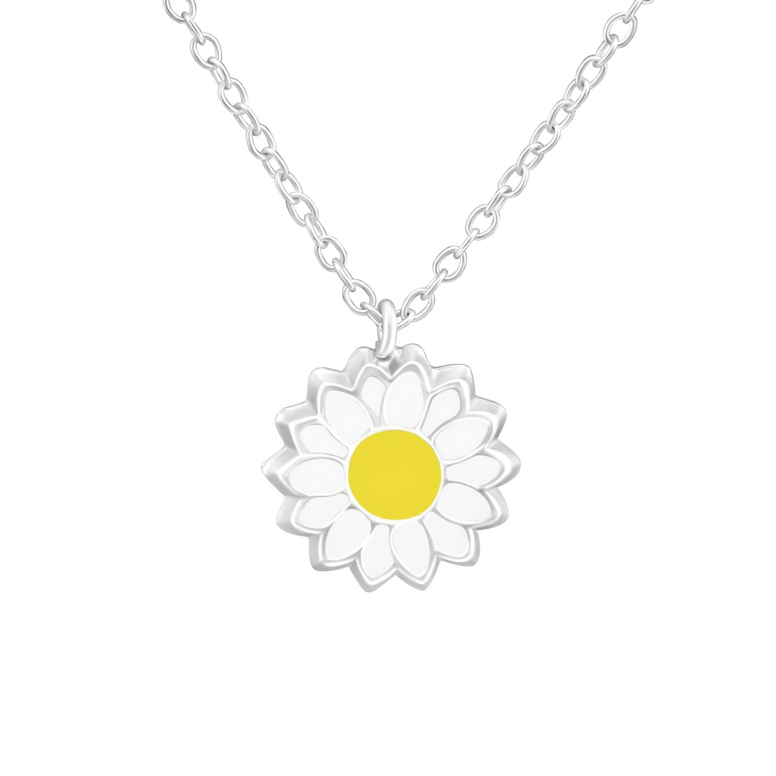 Detský strieborný náhrdelník kvetinka-211702-31