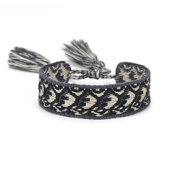 Bavlnený pletený náramok-244828-38