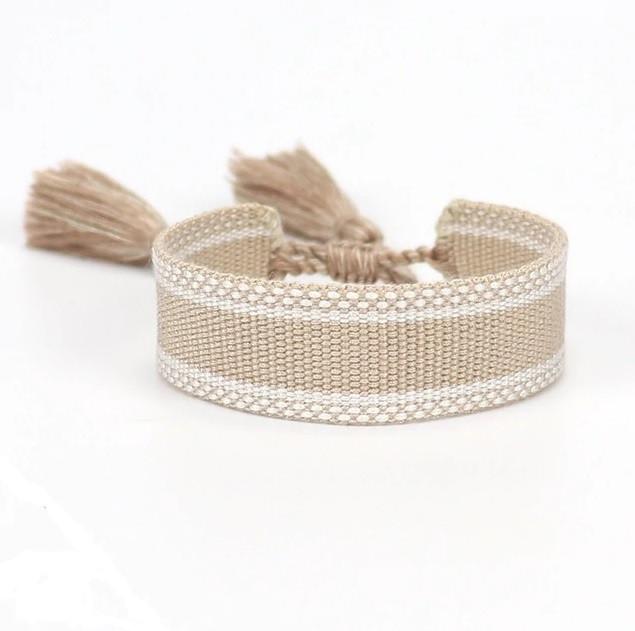 Bavlnený pletený náramok-244825-35