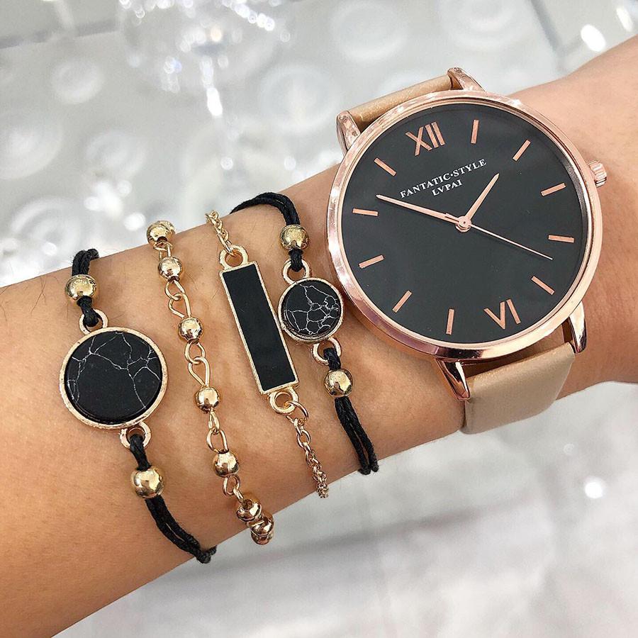 Dámske hodinky+ set bižu náramkov-222313-33