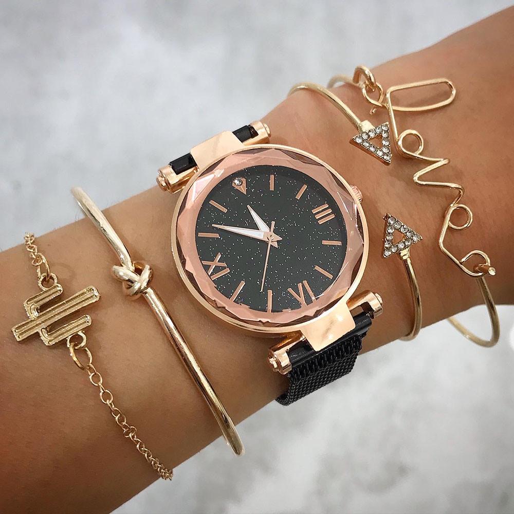 Dámske hodinky+ set bižu náramkov-212142-31