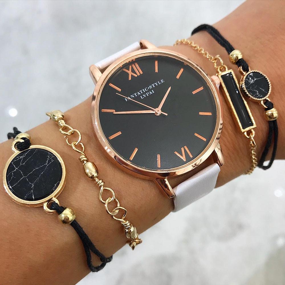 Dámske hodinky+ set bižu náramkov-212102-31