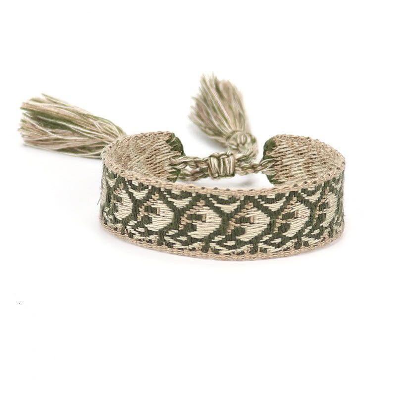 Bavlnený pletený náramok-244826-36