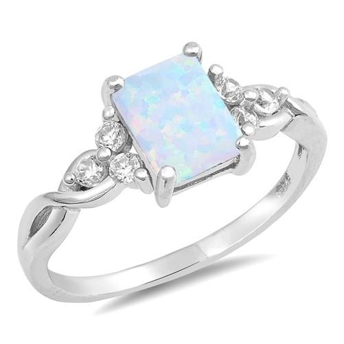 Strieborný prsteň s opálom