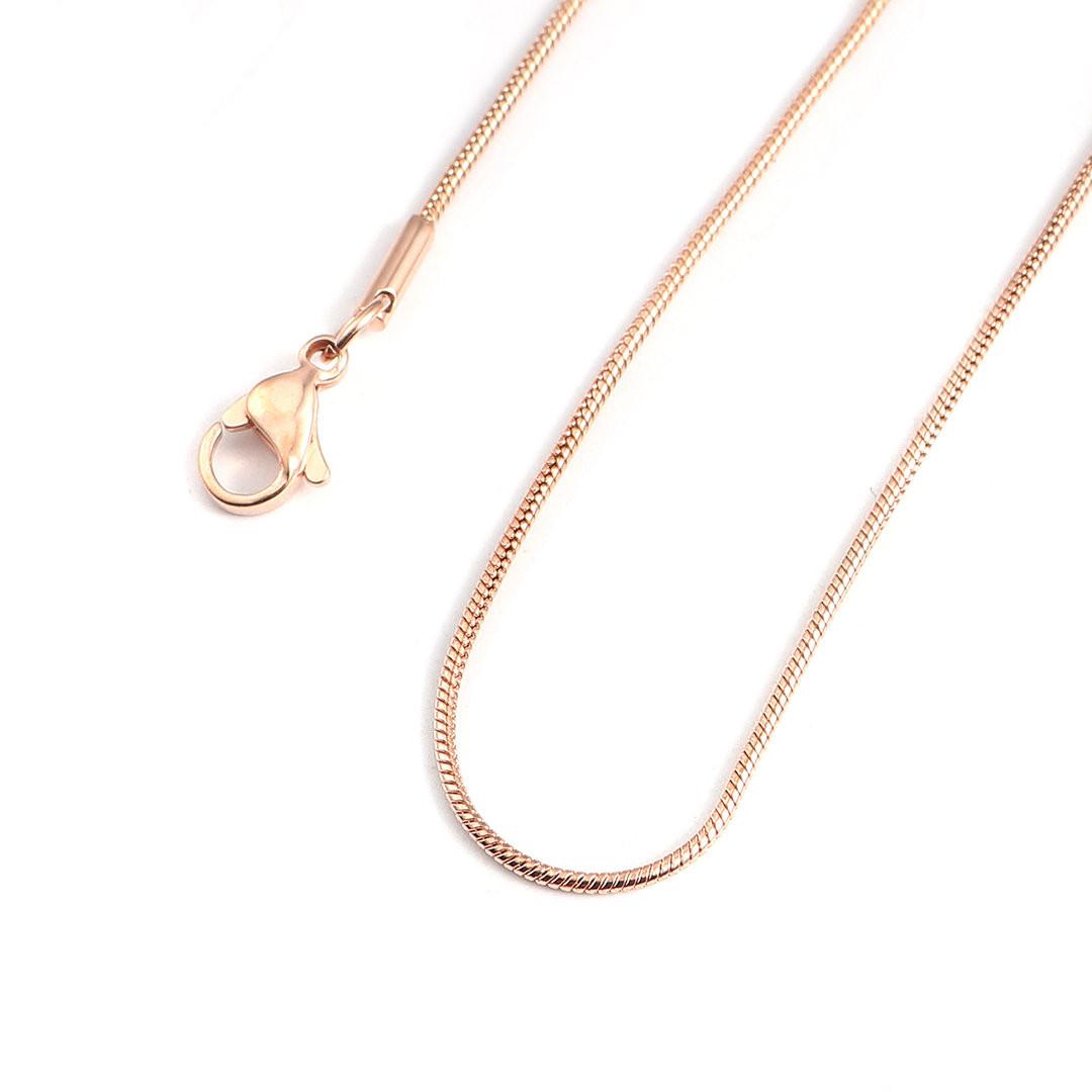 Strieborná retiazka pozlátená ružovým zlatom-235508-31