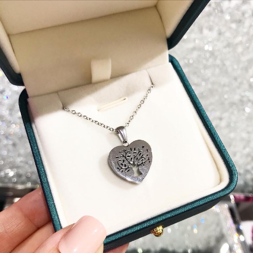 Oceľový náhrdelník s príveskom strom života-248363-38