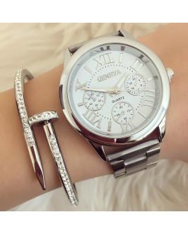 Dámske postriebrené hodinky