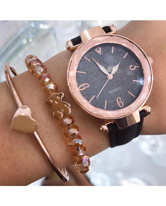 Dámske čierne hodinky-198300-20