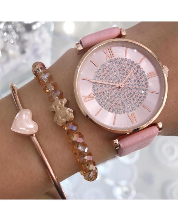 Dámske ružové hodinky-198302-20