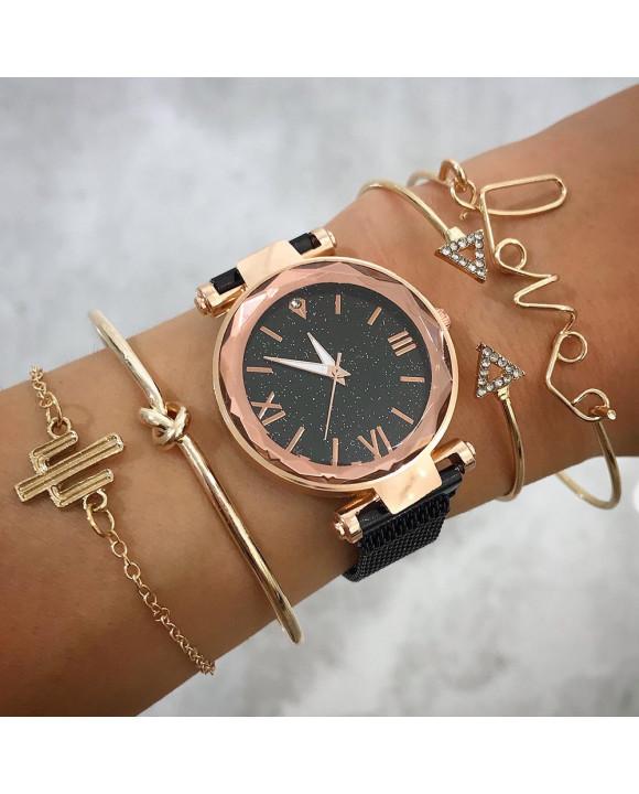 Dámske hodinky+ set bižu náramkov-212142-20
