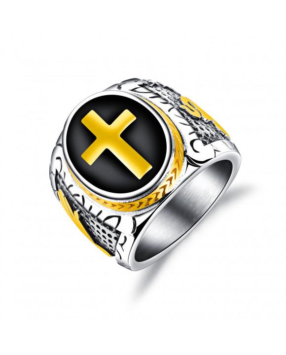 Pánsky oceľový prsteň-162931-20