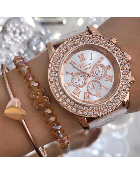 Biele hodinky Geneva-198287-20