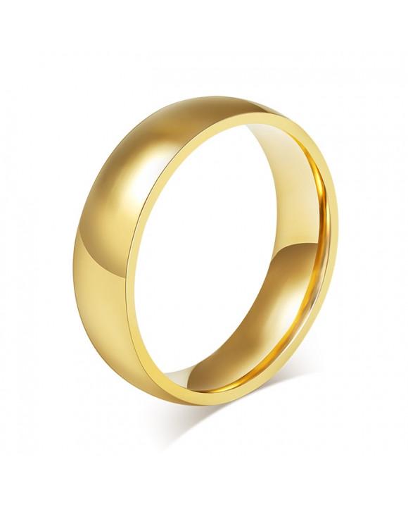 Pozlátený oceľový prsteň
