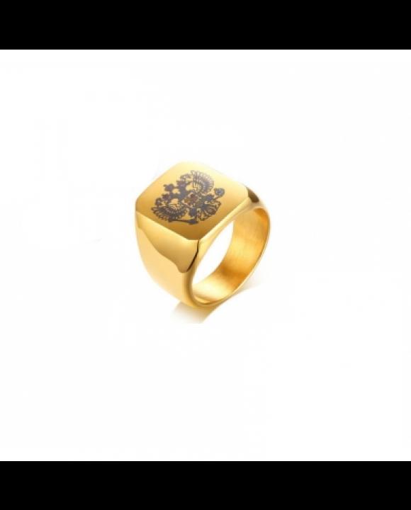 Pánsky pozlátený prsteň-203749-20