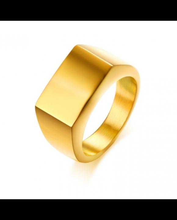 Pozlátený oceľový prsteň-203772-20