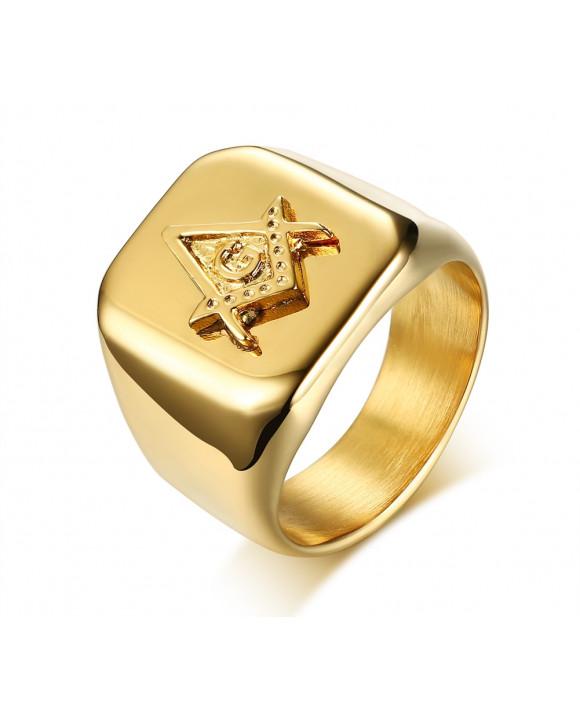 Pánsky pozlátený prsteň-162926-20
