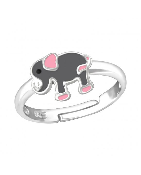 Detský strieborný prsteň Sloník