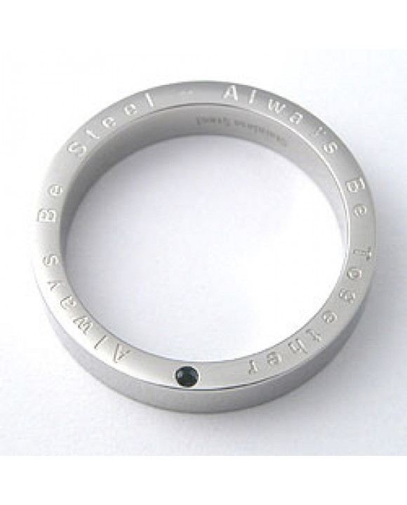 Couple oceľový prsteň