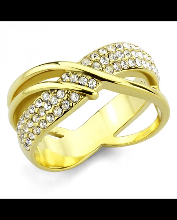 Pozlátený oceľový prsteň-214247-20