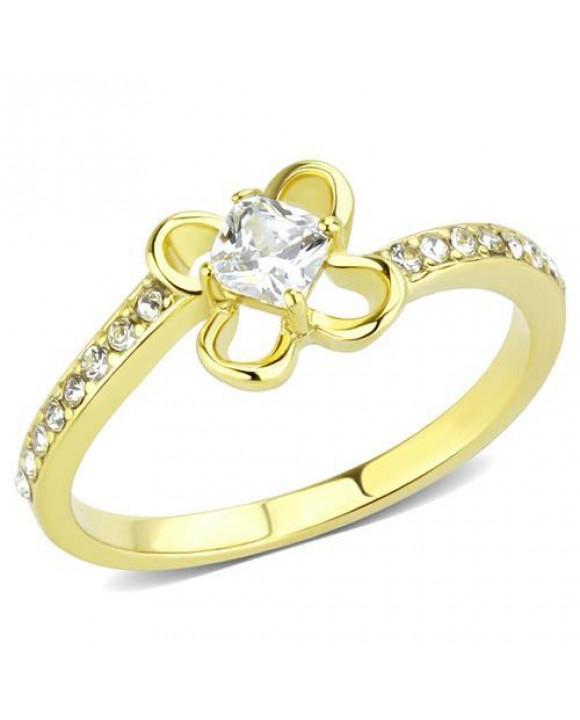 Pozlátený oceľový prsteň-214094-20