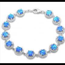 Strieborný náramok s opálom-236602-012