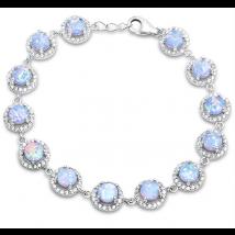 Strieborný náramok s opálom-236601-013