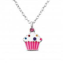 Detský strieborný náhrdelník muffin-211699-01
