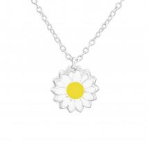 Detský strieborný náhrdelník kvetinka-211702-01