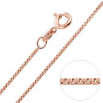 Strieborná retiazka pozlátená ružovým zlatom-235530-02