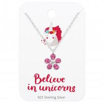 Detský strieborný náhrdelník kvetinka-182394-01