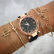 Dámske hodinky+ set bižu náramkov-212142-01