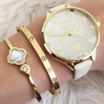 Dámske béžové hodinky