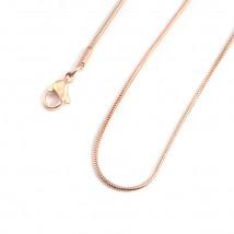 Strieborná retiazka pozlátená ružovým zlatom-235508-01
