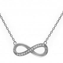 Dámsky strieborný náhrdelník nekonečno-237478-02