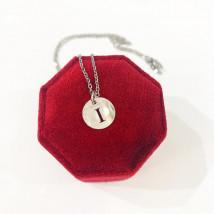 Dámsky oceľový náhrdelník s písmenkom-249450-04