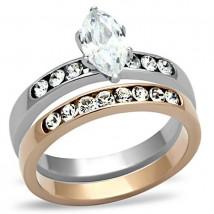 Dámsky oceľový prsteň