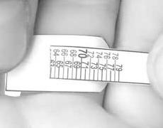 Ako zmerať prst