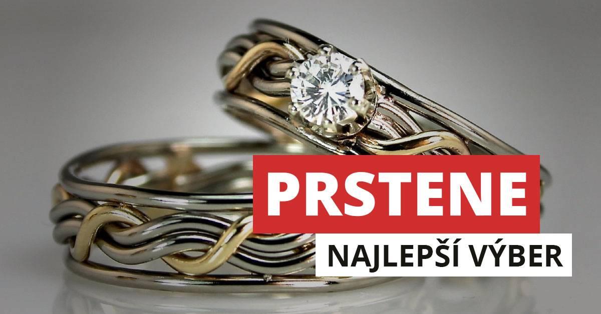 Prstene zo striebra a chirurgickej ocele